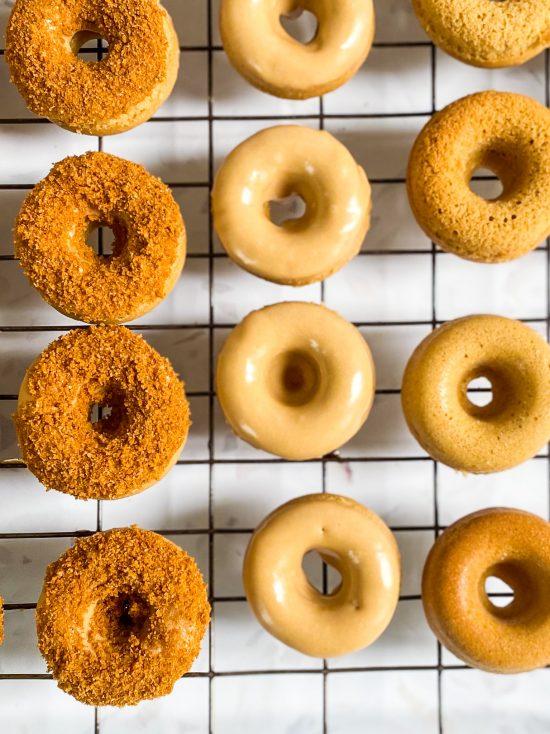 Mini Biscoff Baked Doughnuts with Biscoff Glaze Recipe - www.foodnerd4life.com