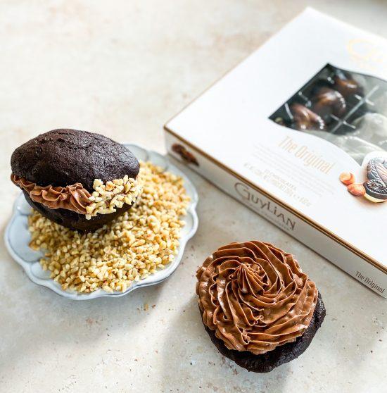In Progress Shot of Hazelnut & Chocolate Whoppie Pies 2 - www.foodnerd4life.com