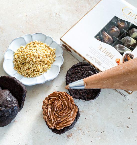 In Progress Shot of Hazelnut & Chocolate Whoppie Pies - www.foodnerd4life.com