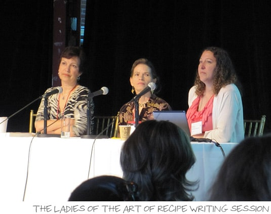 IFBC 2010: The ladies of The Art of Recipe Writing session: Dianne Jacob, Kristine Kidd, Amy Sherman
