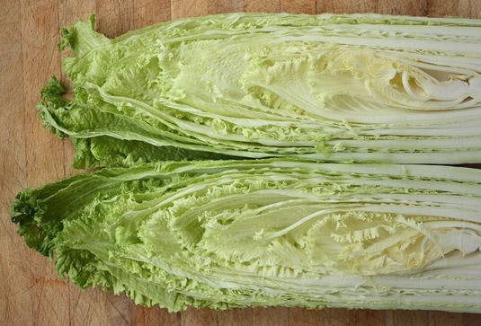 A beautiful heart of Napa cabbage.