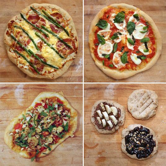 Breakfast, Lunch, Dinner and Dessert Pizzas