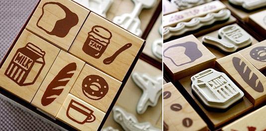 Foodie Stamp Set (by Karaku)