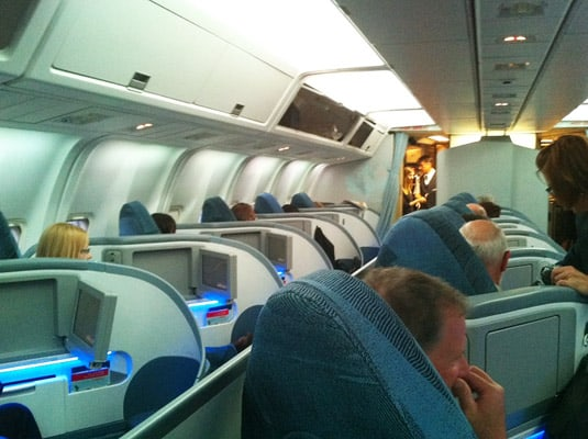 Air Canada's first class: pod-seats