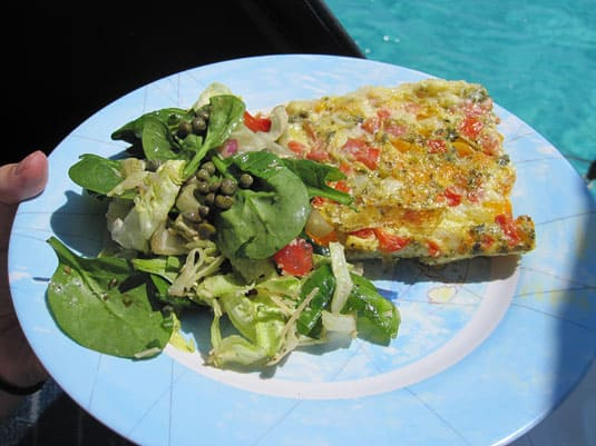 Oven-Baked Ham and Vegetable Frittata