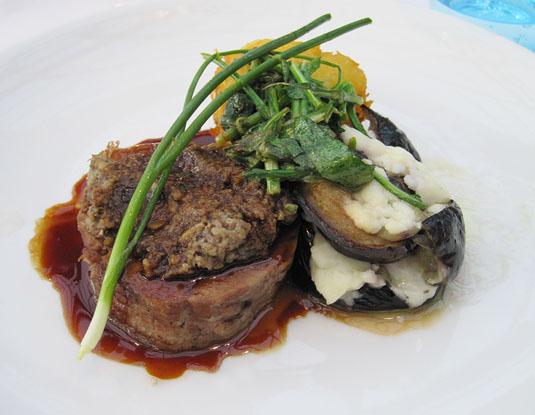 DeKas, Amsterdam: Stewed lamb shoulder with eggplant, sheep feta and rösti