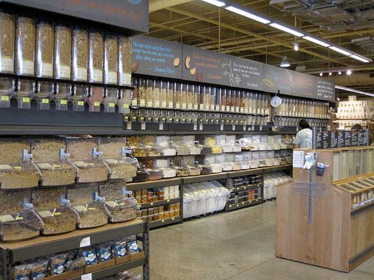 The impressive bulk aisle at Whole Foods Market Lamar, Austin, Texas