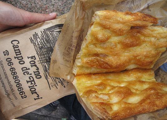 Forno Campo de' Fiori's Pizza Bianca