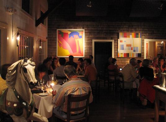 Inside Straight Wharf Restaurant, Nantucket
