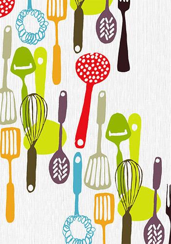 Kitchen Utensils Print, designed by AntiGraphic