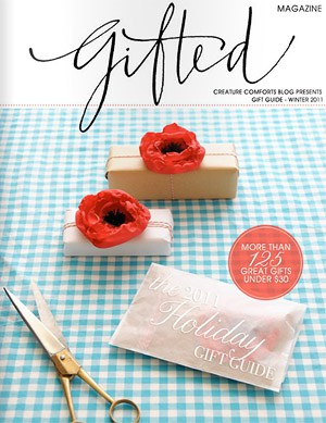 Best for gift inspiration: Gifted Magazine, Gift Guide, Winter 2011