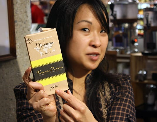 Chocolate aficionado Vanessa, at Tony Caputo's Market & Deli, Salt Lake City.