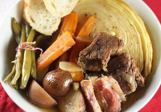 "Beef and Winter Vegetables ""Bouilli"""