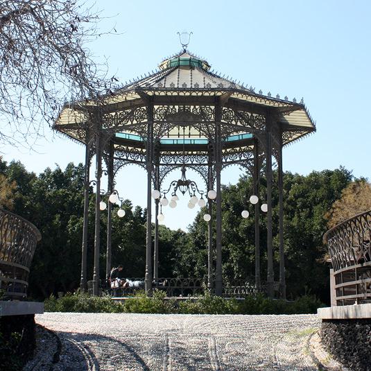 Inside Catania's Villa Park.
