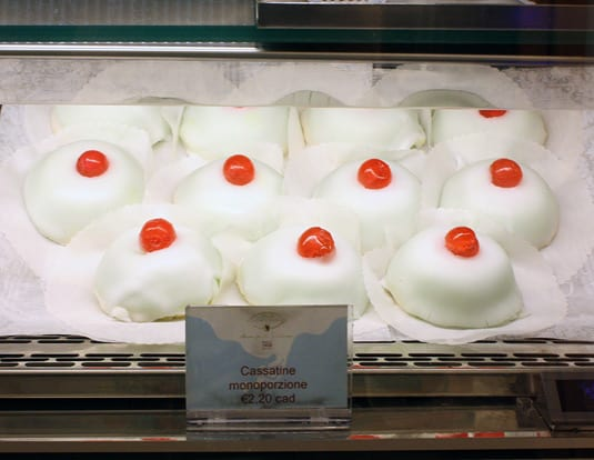 In Catania, there is a small, individual version of the cake that is named in honor of the city's patron, Saint Agatha (Cassatella di Sant'Agata). The cake is made to resemble a woman's breast as an allusion to the Saint's fate: the story relates that her breasts were cut off by a frustrated suitor, who tortured her because she refused his advances.