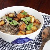 Thai Soba Noodle Bowl: A spicy soup with deep, transporting aromas.