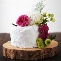 Brown Butter Strawberry Cake with Swiss Meringue Cream by Roost