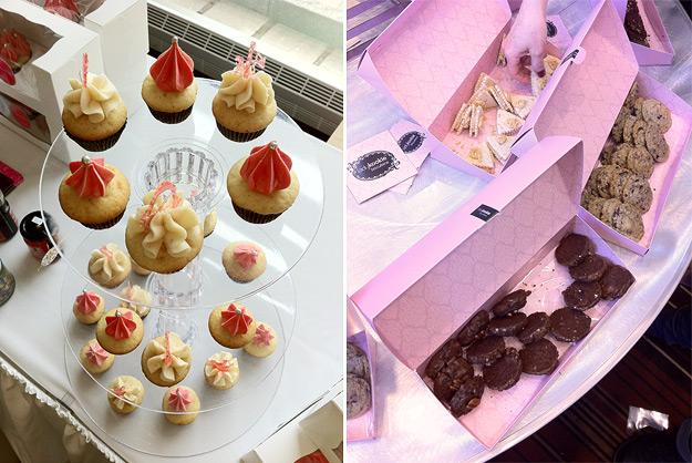 Cupcakes and cookies at FoodCamp Québec.