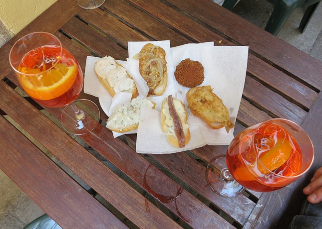 One reason to go to Venice: To refuel with Spritz and cichetti. / FoodNouveau.com