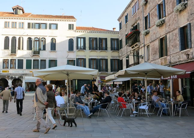 One reason to go to Venice: To soak up the sun on whatever terrace call your name. / FoodNouveau.com