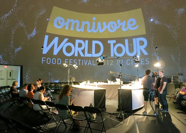 The setting for Omnivore Food Festival, inside the Société des arts technologiques 'Satosphere' / FoodNouveau.com