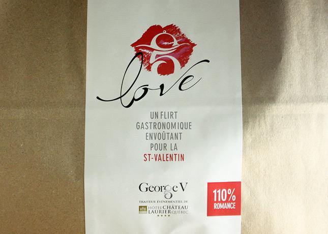 """Love"", a take-out gastronomic menu by George V, the caterer at Quebec City's Hôtel Château Laurier // FoodNouveau.com"