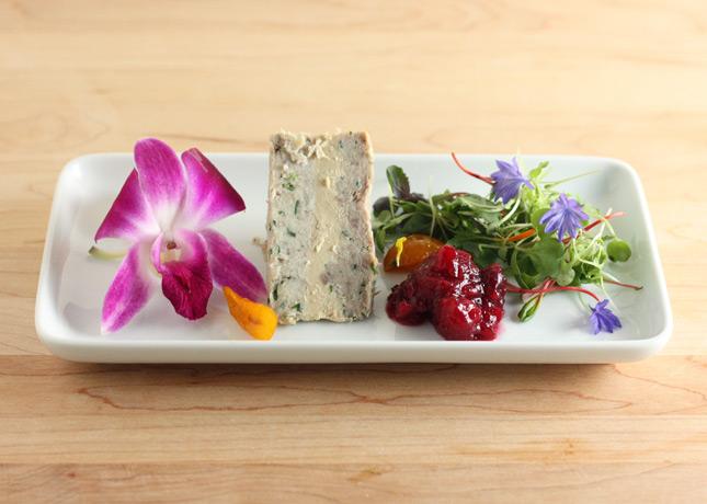 Braised rabbit, foie gras and duck confit terrine // FoodNouveau.com