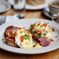 Eggs Benedict, Erick and Emily's favorite dish in New York City // FoodNouveau.com