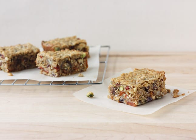 Chewy Nut and Fruit Packed Granola Bars - Food Nouveau