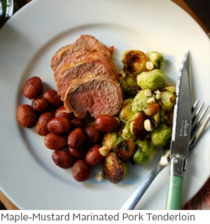 Maple-Mustard Marinated Pork Tenderloin by Amy McCoy // FoodNouveau.com