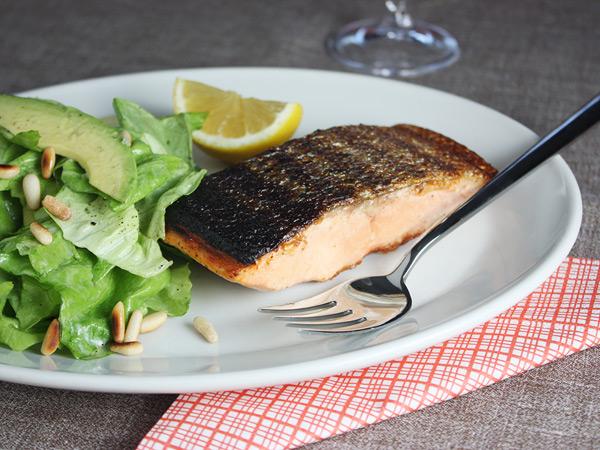 Crisp Salmon with Avocado Salad // FoodNouveau.com