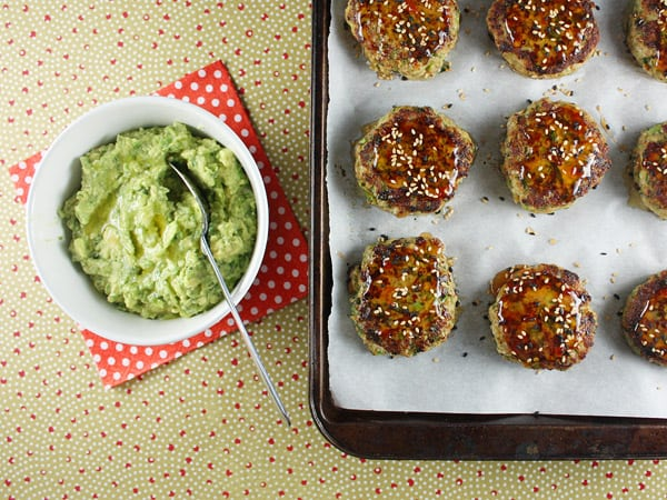 Turkey Cakes with Wasabi Guacamole // FoodNouveau.com