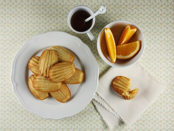 Candied Orange and Maple Madeleines