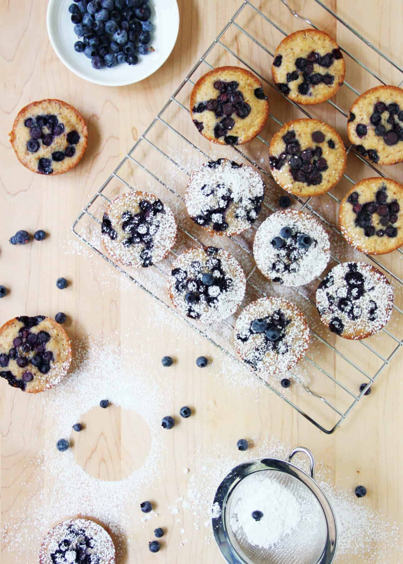 Wild Blueberry Brown Butter Financiers