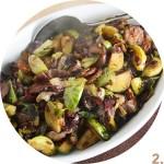 Brussels Sprouts, Radicchio and Chorizo Sautéed Salad // FoodNouveau.com