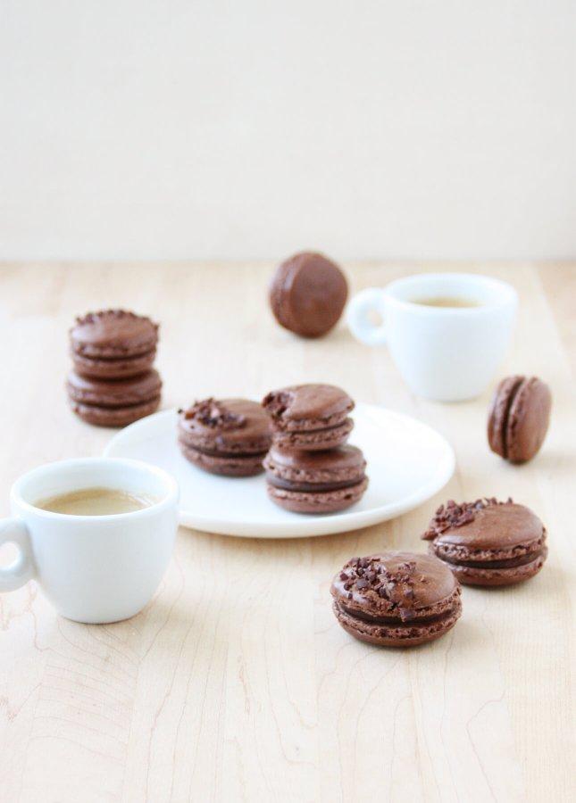 Dark Chocolate Ganache Macarons // FoodNouveau.com
