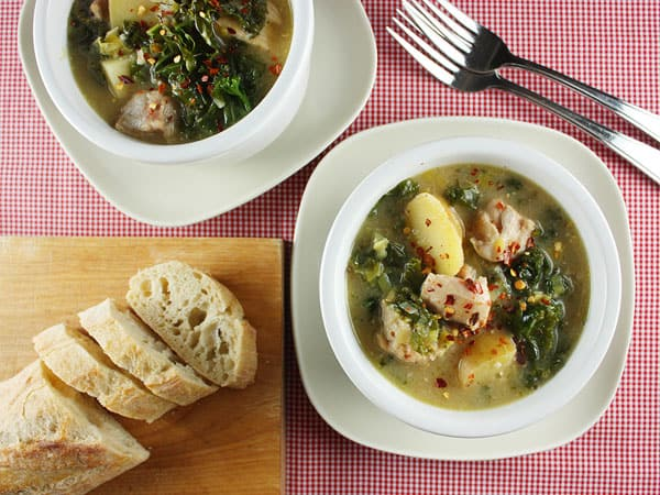Dijon Chicken Stew with Potatoes and Kale // FoodNouveau.com