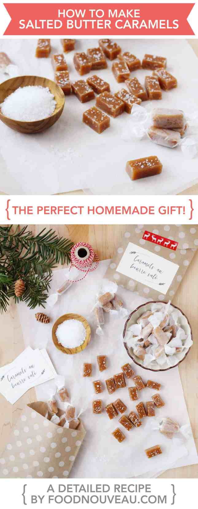 How to Make Salted Butter Caramels, the perfect homemade gift! // FoodNouveau.com
