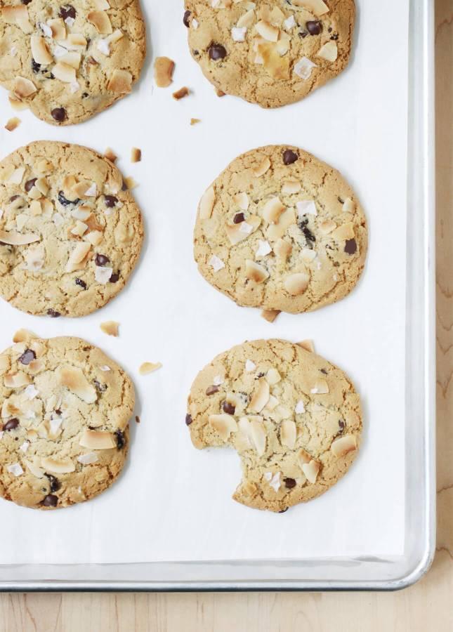 Giant Coconut Tahini Cookies // FoodNouveau.com