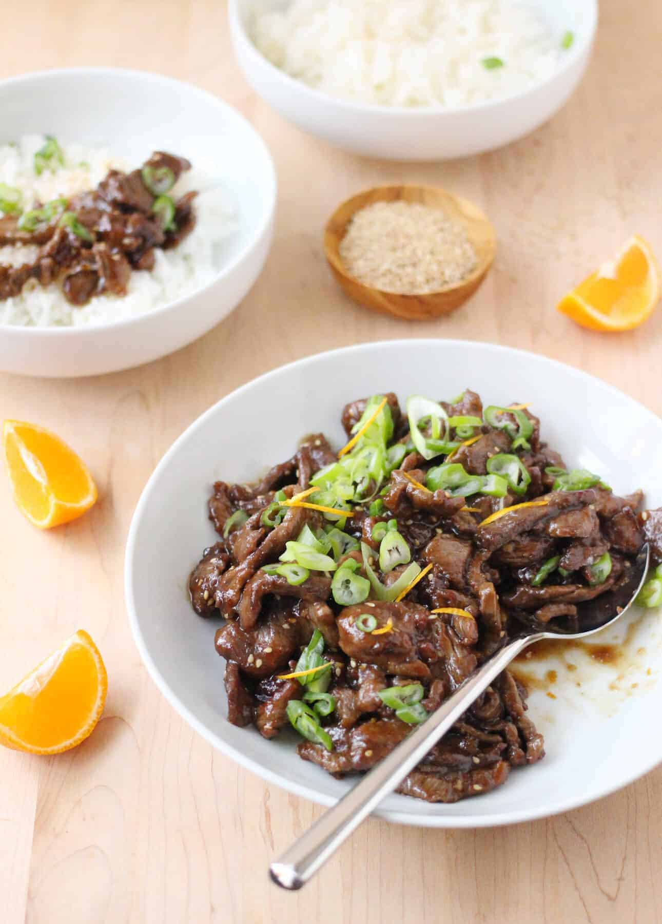 Superfast Sesame Orange Beef Stir-Fry