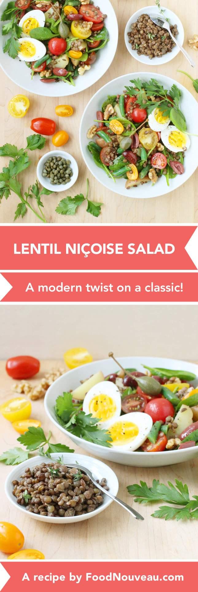 Lentil Niçoise Salad: A modern twist on a classic! // FoodNouveau.com
