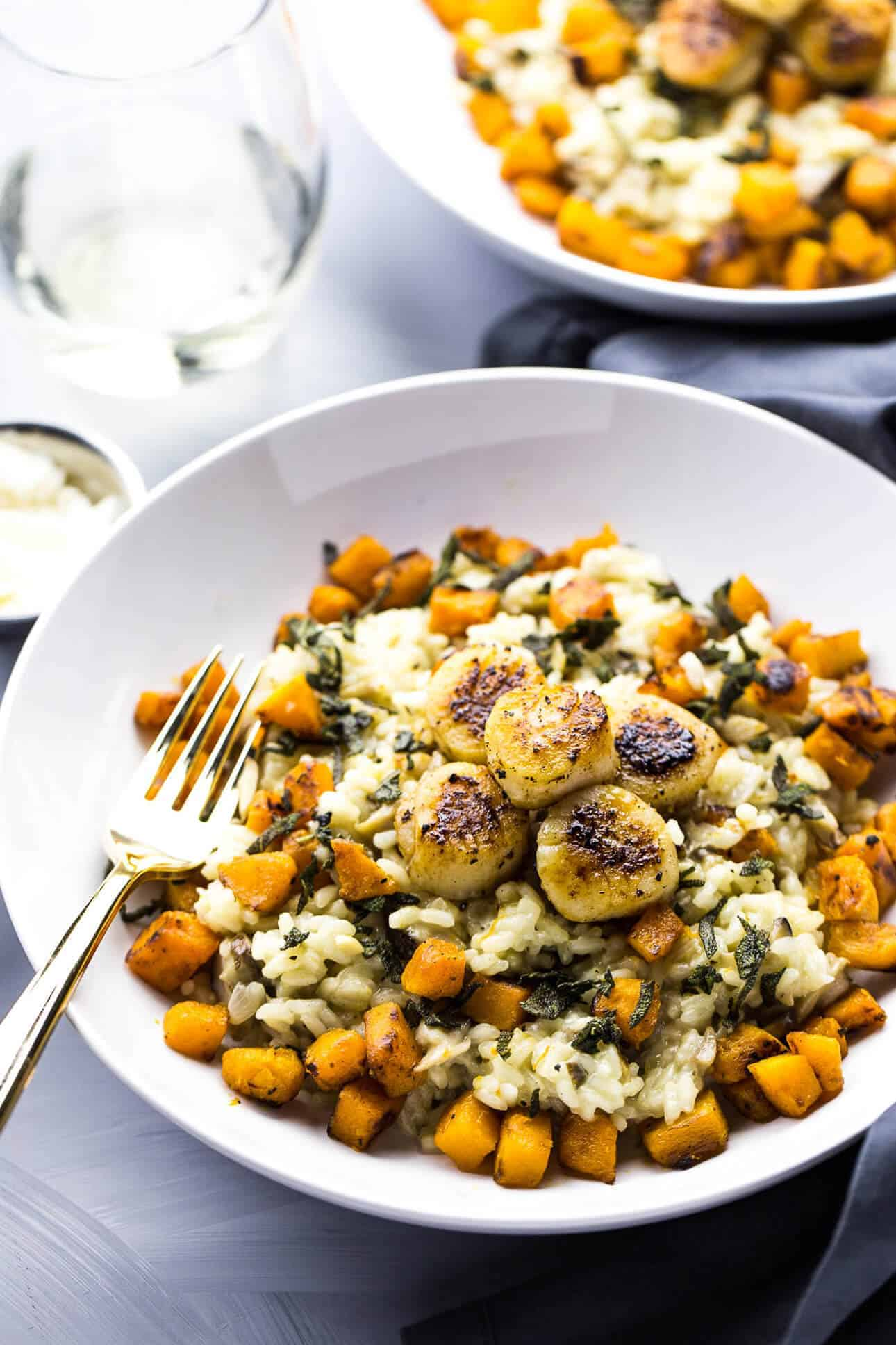{Cooking with Friends} Seared Scallops with Butternut Squash Risotto, by The Girl on Bloor