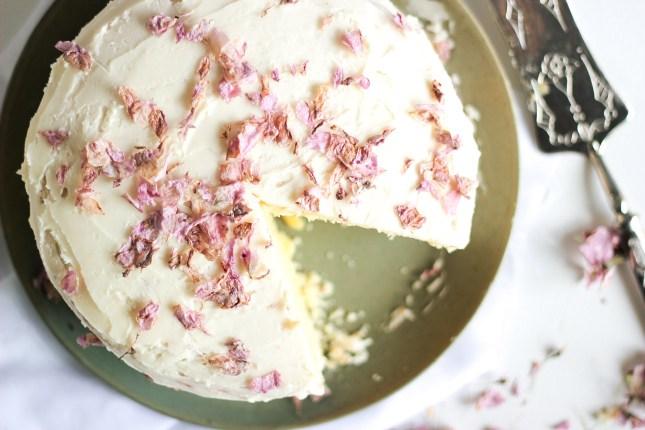 Spring Cherry Blossom Lemon Cake, by She Eats // FoodNouveau.com