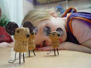 DIY Cork Mice Project