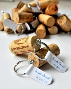 diy wine cork seating key chain
