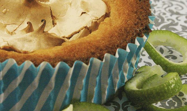 lime meringue muffin recipe. Gluten free!