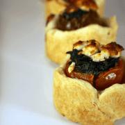 Spinach And Feta Stuffed Tomato Tarts