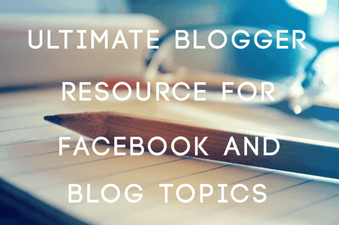 facebook and blog topics
