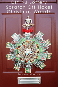 DIY NJ Lottery Ticket Scratch Off Christmas Wreath