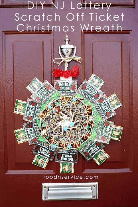 DIY NJ Lottery Scratch Off Ticket Christmas Wreath